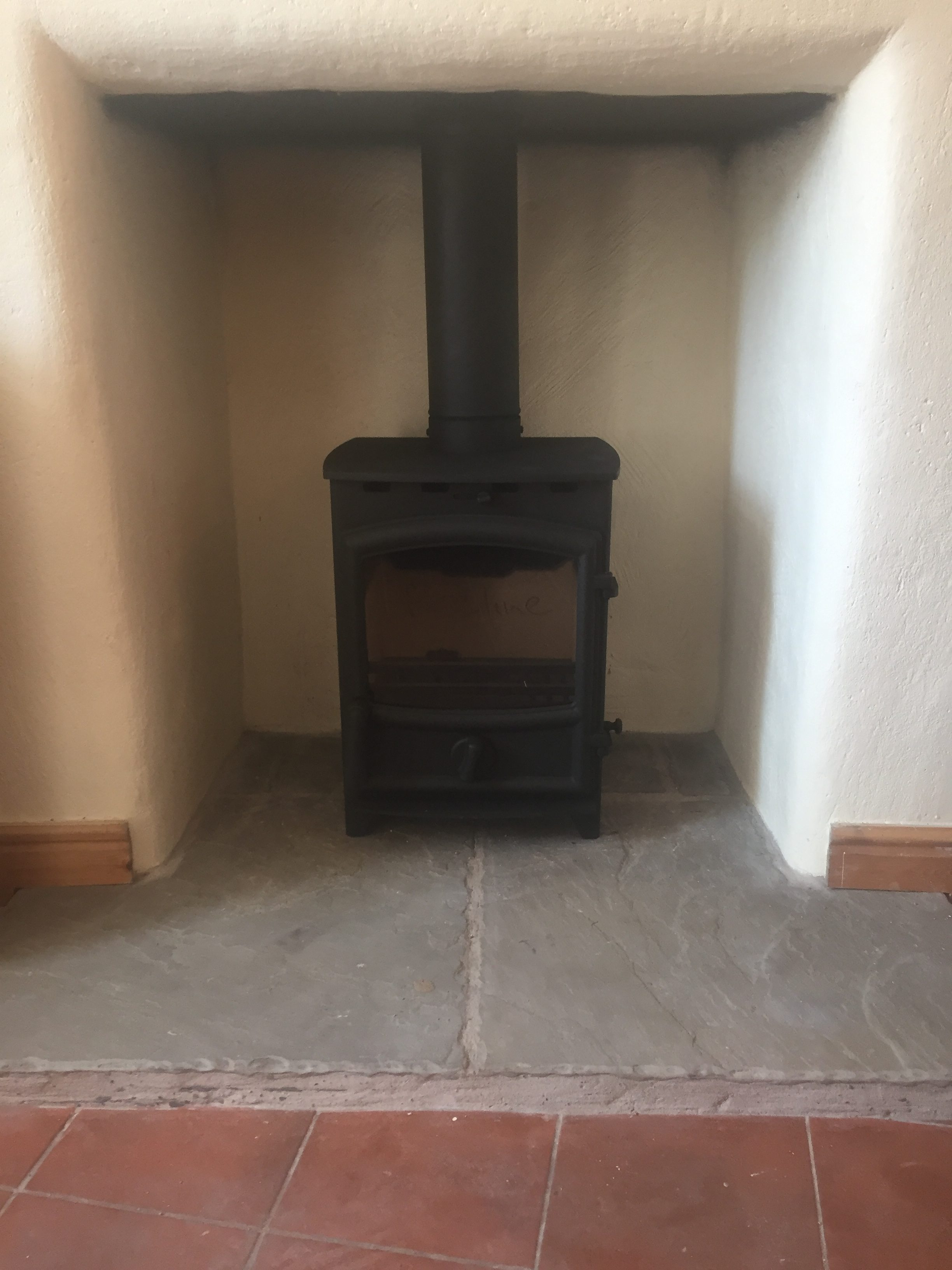 Again a Fireline FX5 in a rendered fireplace opening this looks so much better than the old gas fire it replaces